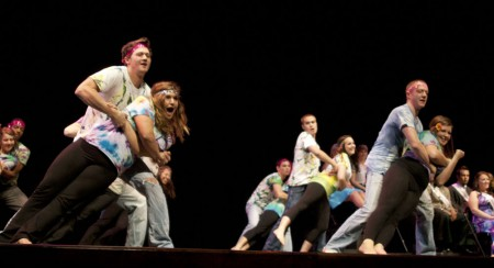 Lip Synced: Sororities and Fraternities participated in Lip Sync on Monday, Oct. 4. Comedians also competed to win the chance to open for comedian, Christian Finnegan who will be performing Friday, Oct. 8 at 7 p.m. in the Williams Auditorium. Photo By: Kate Dupon | Photo Editor