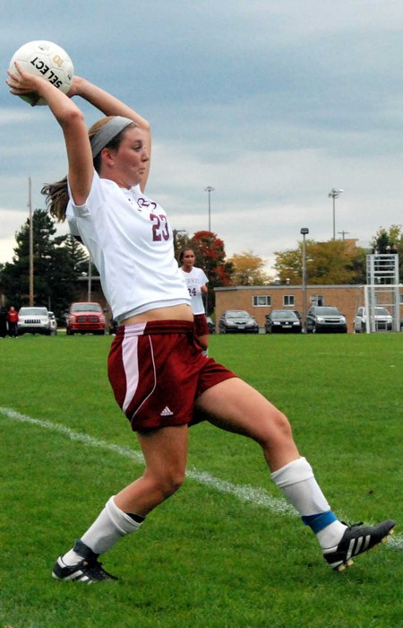 Women's Soccer: Hillary Braun throws a ball back into play during a 2010 season game. The Lady Bulldogs have announced the recruiting class for the 2011 season. Torch File Photo