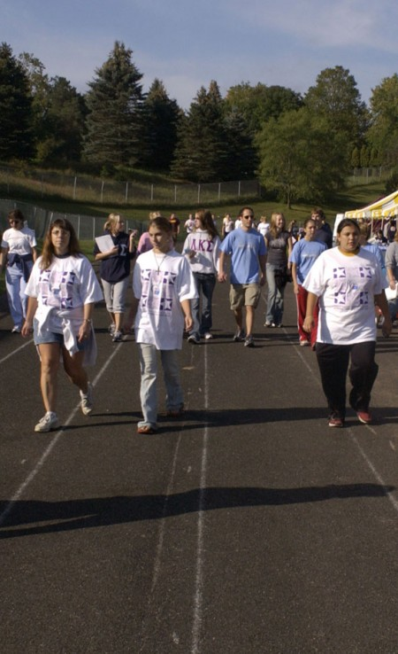 Fighting Cancer: Relay for Life will begin on April 1 at Wink Arena. Students walk to remember those who lost their lives to cancer and honor those who have survived. Photo Courtesy of Ferris Photographic Services
