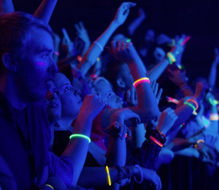Turn Up the Good!: Ferris students watch as Glitch Mob and Virtual Boy perform at the Turn Up the Good concert that took place on March 31 in the Wink Arena. The Turn Up the Good concert took the place of January Jams which was cancelled this year. Photos By: Brock Copus | Photographer
