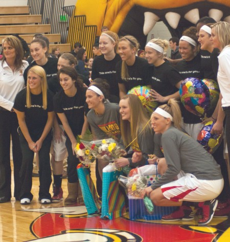 Senior Day: Lady Bulldogs celebrate their final home game of the season against Saginaw Valley State with Senior Day. Four players played their final regular season game of their collegiate career on Saturday.  Photo By: Tori Thomas | Photographer