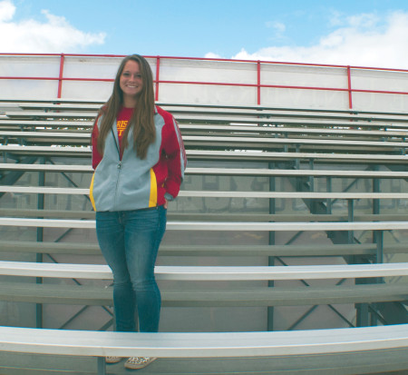 Ferris junior softball player Jordan Maxwell stands alone as one of the few college athletes to try out and make the team without any scholarship incentive. Maxwell and the Bulldogs prepare for their spring season.  Photo By: Tori Thomas | Photo