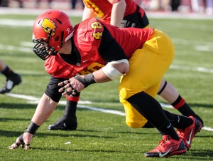 Ferris senior defensive tackle Justin Zimmer tallied 19 tackles, 2.5 sacks and 2 forced fumbles against Michigan Tech.