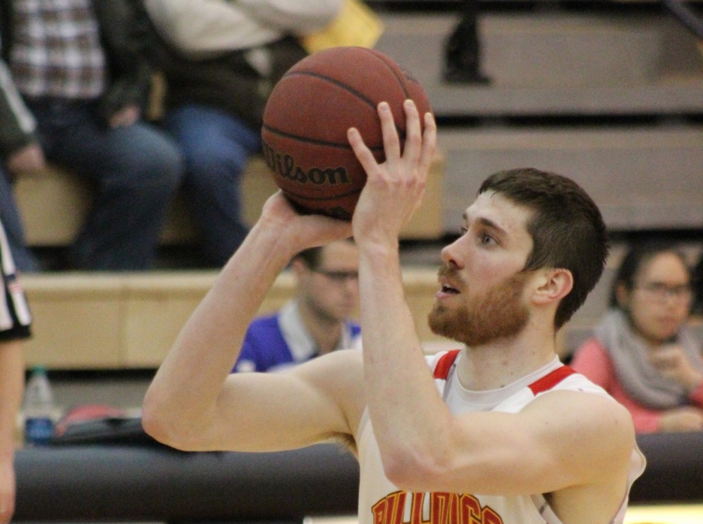Senior center Jared Stolicker tied for a team-high 19 points against Indianapolis in the first round of the NCAA Tournament.