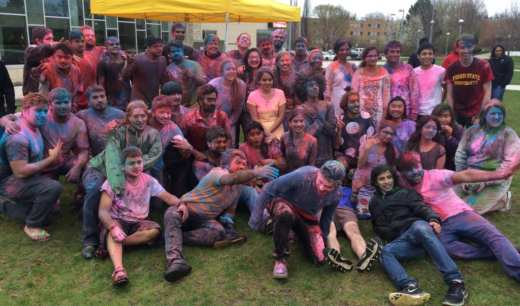 The Holi Festival of Colors, which celebrated equality and goodness over evil, was held on Ferris' North Quad on Thursday, April 28.